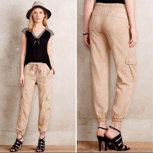 "CLOTH & STONE Anthro natural tan ""Safari"" joggers"